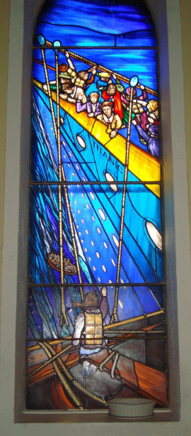 Stained glass art glass ireland titanic stained glass window memorial stained glass