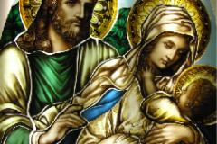 Art glass stained glass window -Art glass Ireland new design traditional church glass