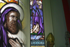 Dublin st pattrick stained glass, traditonal an new deisgn of church decourative stained glass