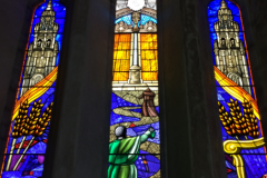 Traditional Stained glass studio artglass ireland aluminium storm glazing church glass