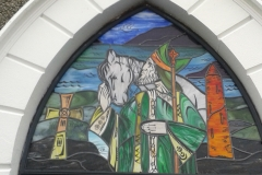 st pattrick new traditional stained glass leaded light dome by stained glass studio art glass ireland derry city