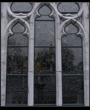 Curved and Shaped storm glazing surround glazing system water proof church glass heritage and conservation of church glass in UK