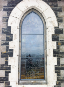 On site stained glass restoration protective stained glass aluminium storm glazing ventilated isothermal water proof storm glazing ireland and UK ART GLASS