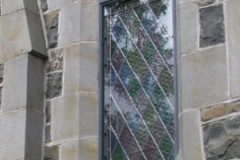 Capturestorm glazing external protective conservation of churches stained glass specalist protective water proof glass system art glass ireland