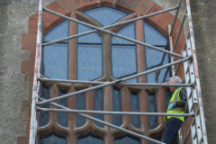 skilled stained glass Stained glass conservation remidial work and repair of existing windows heritage on stained glass church glass repair in uk belfast