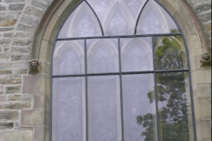 stained glass repair restore and protect with waterproof external glazing storm glazing by stained glass restoration specialists Derry City Art glass ireland
